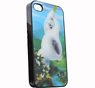 3D Effect White Bear Pattern Hard Case for iPhone 4/4S