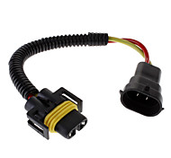 H11 Male to Female Wire Harness Sockets Extension Cable for Car Headlamp/Fog Lamp