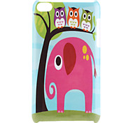 Elephant Pattern Hard Case for iPod Touch 4