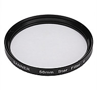Banner 6pt 58mm Star Filter for Canon, Nikon, Sony and More