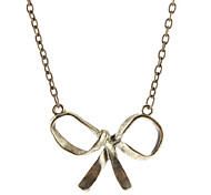 Simple Metal Bowknot Necklace