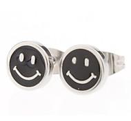 8 mm Smile Symbol Stainless Steel Stud Earrings