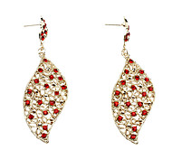 Fully-jewelled Leaf shape Earrings