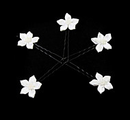 Donne / Bambina Raso / Lega / Perle false Copricapo-Matrimonio / Occasioni speciali / Casual / All'aperto Fermacapelli 5 pezzi