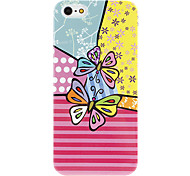 Butterfly Pattern Hard Case for iPhone 5/5S