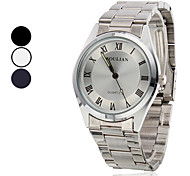 Style décontracté bracelet en acier analogue de quartz pour hommes (couleurs assorties)