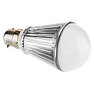 B22 5 W 5 High Power LED 330 LM Warm White A Dimmable Globe Bulbs AC 220-240 V