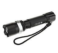 UniqueFire UF-P2 ricaricabile 3-mode Cree XP-E R2 Zoom torcia LED (240LM, 1x18650, Nero)