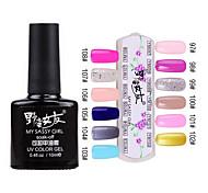 1PCS Soak-off UV Color Gel No.97-No.108(10ml,Assorted Colors)