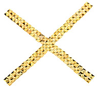 8mm Square Metal Golden Rivets *100