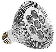 7W E26/E27 LED Spotlight PAR30 7 High Power LED 450 lm Warm White Dimmable AC 220-240 V