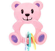 Baby Bear Shaped Activity Toy with Ringing (Random Color)