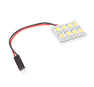Ampoule pour lampe de lecture de voiture (12V) 1.5W 8x5730SMD Natural White Light LED