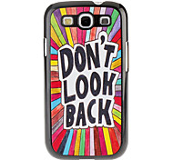 Letters Pattern Hard Case for Samsung Galaxy S3 I9300