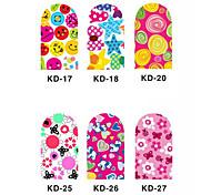 12PCS 3D Full-cover Nail Art Stickers Cartoon Series(NO.3,Assorted Color)