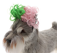 All Seasons Plastic Hair Accessories for Dogs / Cats Green / Pink
