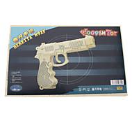 DIY Wooden 3D Colt Pistol Style Puzzle (2pcs)