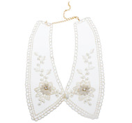 Pearl Flower Transparent Lace Collar