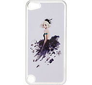 Black Skirt Pattern Hard Case with Rhinestone for iPod Touch 5