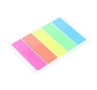 44x12mm 5 Colors Fluorescence Index Card Set  (Random Color)