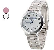 Frauen-analoge Quarz-Armbanduhr (farbig sortiert)