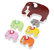 Elephant Shaped Eraser (6pcs, Random Color)