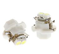B8.4 0.5W 2x3528SMD White Light LED Bulb for Car Instrument Lamp (DC 12V, 1-Pair)