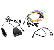 3 Meter Flexible Car Decorative Neon Light 2.3mm EL Wire Rope with Sound Activated