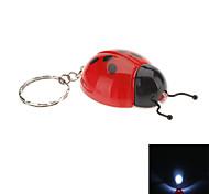 Septempunctata portachiavi torcia elettrica a LED a forma di Coccinella (colori casuali)