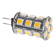 G4 3 W 24 SMD 5050 290 LM Warm White Corn Bulbs DC 12 V