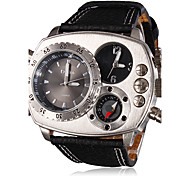 Men's Watch Military Compass Dual Times Zones
