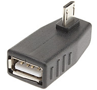 90 Degree to Left USB/A to Micro 5P F/M Adapter