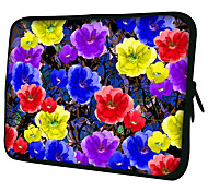 """4 Colors Flowers""Pattern Nylon Material Waterproof Sleeve Case for 11""/13""/15"" Laptop&Tablet"
