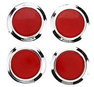 Forma Redonda Stick-on do refletor para o carro (4 peças)