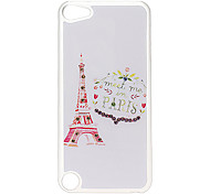 Elegant Tower Pattern Hard Case with Rhinestone for iPod Touch 5