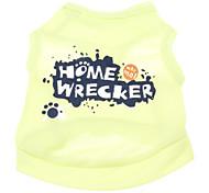 Perros Camiseta Verde Verano Letra y Número