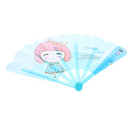 Cartoon Little Girl Style with Fragrance Plastic Hand Folding Fan (Assorted Colors)