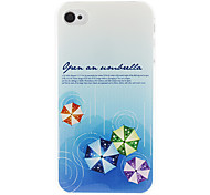 Umbrella Pattern Hard Case for iPhone 4/4S