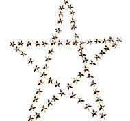 10 millimetri Pentagram metallo oro pallido Rivetti gialle * 100