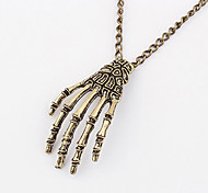 Vintage Alloy Skull's Hand Pattern Necklace