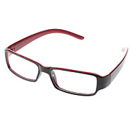 Unisex Transparent Lens Rectangle Eyeglasses (Random Color)