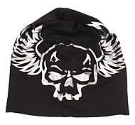 Outdoor Black Full-Face Breathable Mask with Human Skeleton Printing