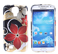 Red Flower Pattern Hard Case für Samsung Galaxy i9500 S4