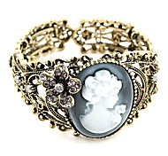 Vintage Lady Anaglyphs Hollow-Out Opening Bracelet