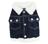 Dog Shirt / T-Shirt / Denim Jacket/Jeans Jacket Blue Winter Jeans