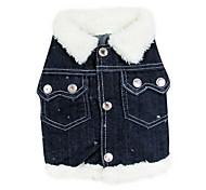kühlen sonnigen Jeans-Stil terylene Shirt für Hunde (XS-XL)