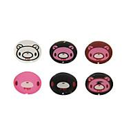 modelo animal botón adhesivo para iphone / ipad / iTouch (pack de 6)