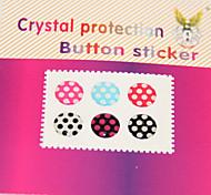 patrón de puntos joyland botón-adhesivo para iphone / ipad / iTouch (pack de 6)