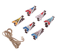 6 Pack Tower Style Wooden Clips