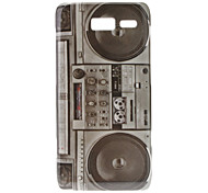 Retro Style Radio Pattern Hard Case for Moto RAZR I XT890